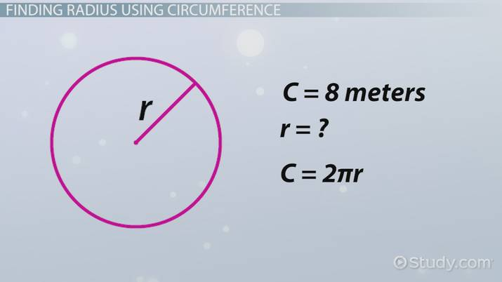 Finding the radius formula concept video lesson transcript finding the radius formula concept video lesson transcript study fandeluxe Image collections