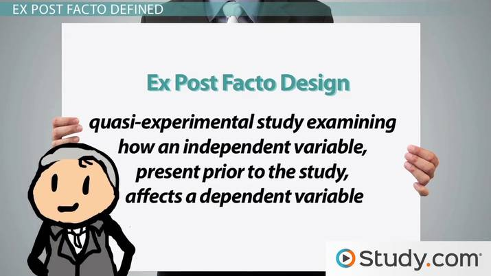 Ex Post Facto Designs: Definition & Examples - Video