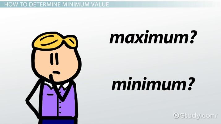 Minimum Values: Definition & Concept - Video & Lesson