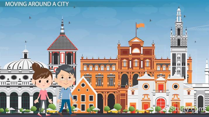 Spanish Vocabulary: Activities in the City - Video & Lesson