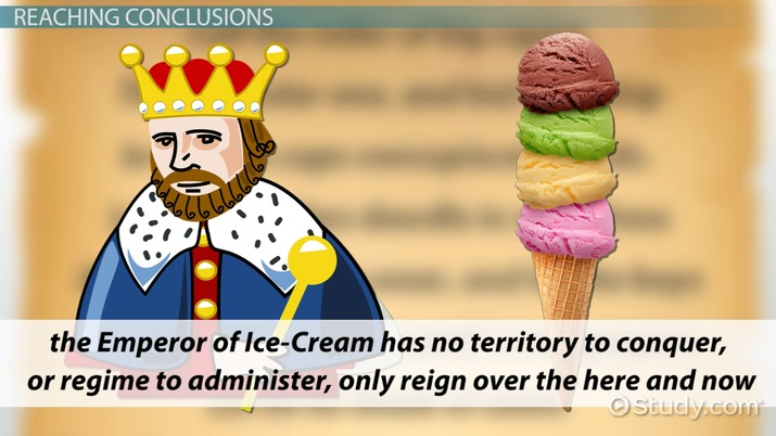 theme of life and death in the emperor of ice cream