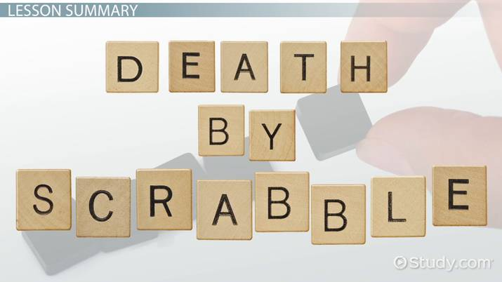 Death by Scrabble Summary, Theme & Character Analysis