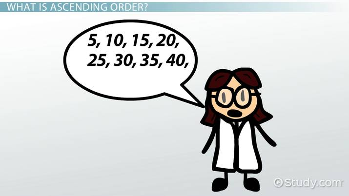 What is Ascending Order in Math? - Definition & Example