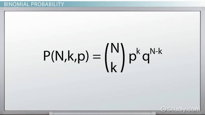 Calculating Binomial Probability: Formula & Examples - Video