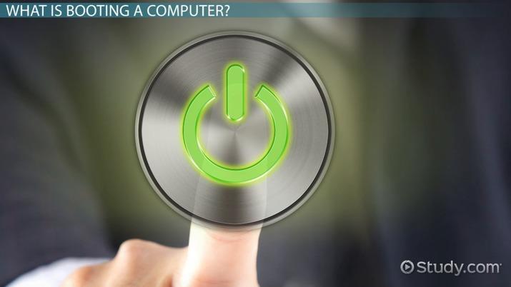 Booting a Computer: Definition & Process - Video & Lesson Transcript