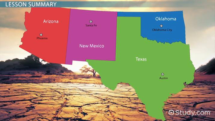 Southwest Region Of The Us Facts Lesson For Kids Video Lesson - Map-southwest-region-us