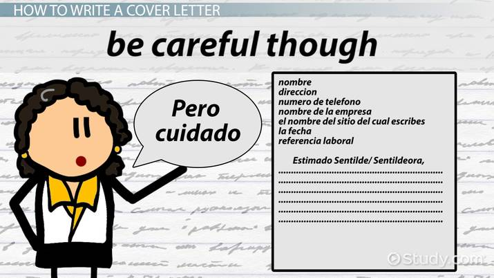 Writing a Cover Letter in Spanish