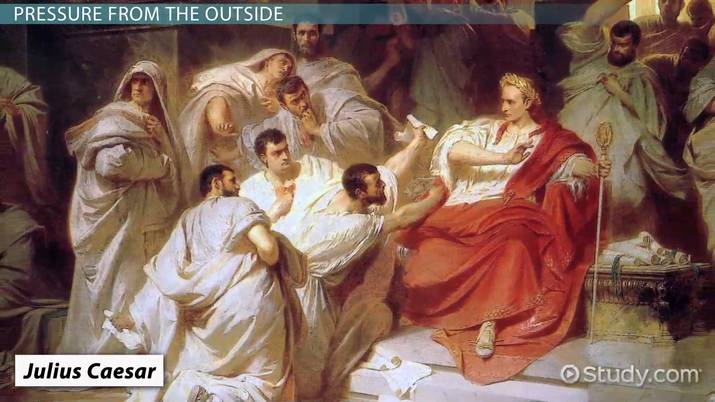 who was the hero in julius caesar