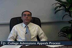College Admissions Appeals Process Video