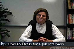 How to Dress for a Job Interview Video