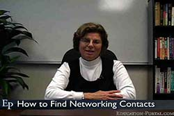 How to Find Job Networking Contacts Video