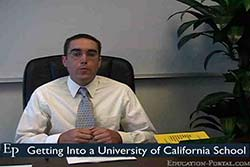 Getting into a University of California School Video