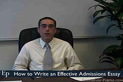 How to Write an Effective Admissions Essay Video