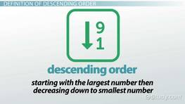 What is Descending Order? - Definition & Example