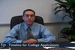 Timeline for College Applications Video
