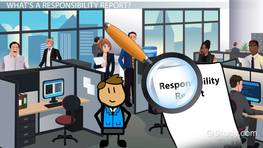 Creating a Responsibility Report for a Cost Center