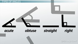 Types of Angles: Right, Straight, Acute & Obtuse