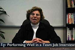 Performing Well in a Team Job Interview Video
