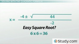 Solving Problems using the Quadratic Formula - Video & Lesson ...