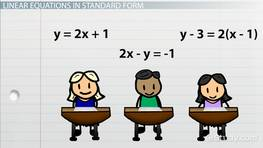 How to Write an Equation in Standard Form