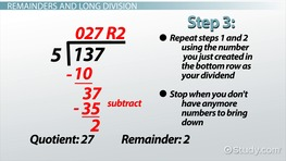Remainder in Math: Definition & Example