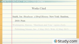 How to Make a Works Cited Page