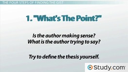 Get the Gist of an Essay & Improve Reading Comprehension