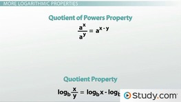 Logarithmic Properties