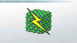 Lattice Energy: Definition, Trends & Equation