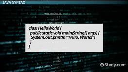 Java's 'Hello World': Print Statement & Example