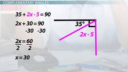 Solving Equations With Angle Relationships