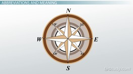 Cardinal & Intermediate Directions: Definition & Meaning