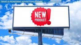 Pioneering Advertising: Examples & Overview