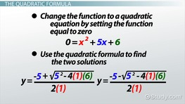 Quadratic Functions: Examples & Formula - Video & Lesson