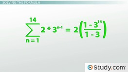 How to Calculate a Geometric Series