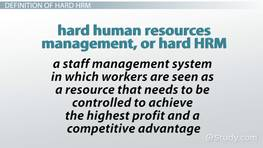 Hard HRM: Focus on Corporate Business