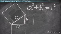 Pythagorean Identities in Trigonometry: Definition & Examples