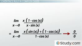 Applying L'Hopital's Rule in Complex Cases