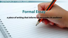 Formal Essay: Definition & Examples