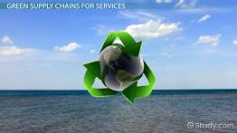 Managing a Green & Sustainable Supply Chain