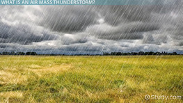 Air Mass Thunderstorms: Characteristics & Stages
