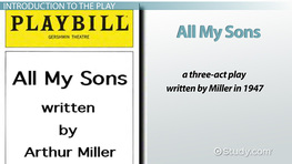 an analysis of the characters in the play all my sons by arthur miller Miller's all my sons was selected as the  it is precisely by leaving arthur miller's 1953 play so  the dilemmas of my characters turn out to be quite.