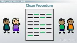 Using Cloze for Assessment
