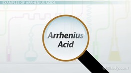 Arrhenius Acid: Definition & Examples