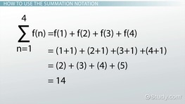 Summation Notation: Rules & Examples