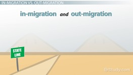 In-Migration and Out-Migration: Definition & Overview