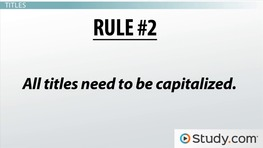 Capitalization Rules in Writing