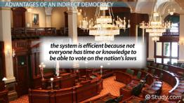 What is Indirect Democracy? - Definition, Advantages & Examples