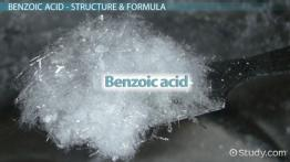 Benzoic Acid: Structure, Formula & Uses