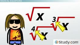 Changing Radical Equations into Linear or Quadratic Equations